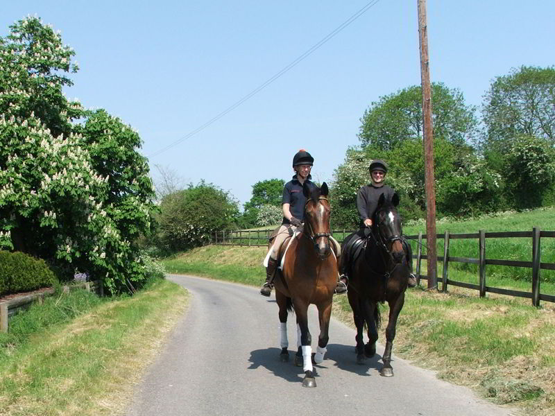 Hacking on quiet country lanes